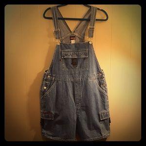 Vintage Denim Bib Shorts